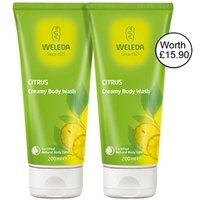 Weleda Citrus Creamy Body Wash-Banded pack 2 x 200ml 2 x 200ml
