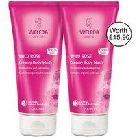 Weleda Wild Rose Creamy Body Wash-Banded pack 2 x 200ml 2 x 200ml