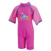 Zoggs Sun Protection Swimsuit Pink 2-3 years
