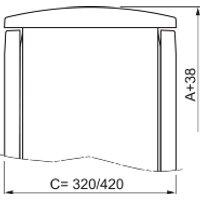 NSYTJPLA73G  - Regendach 750x320 mm NSYTJPLA73G