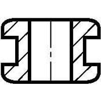 HV 1203-PVC-BK  - Tülle HV 1203-PVC-BK
