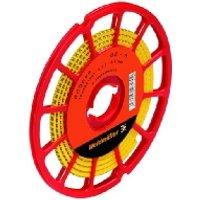 CLI C1-6 GE/SW 16 CD  - Leitermarkierer 6x4,2mm,weich,gelb CLI C1-6 GE/SW 16 CD