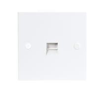 KnightsBridge 1G White Telephone Master Socket Flush Wall Switch