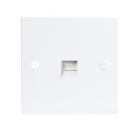 KnightsBridge 1G White Telephone Extension Socket Flush Wall Switch