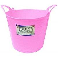 Rhino 26L Heavy Duty Flexi Flexible Garden Container Storage Bucket Tub - Pink