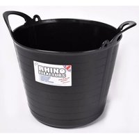 Rhino 26L Heavy Duty Flexi Flexible Garden Container Storage Bucket Tub - Black