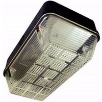 Eterna 100W IP65 BC B22d Polycarbonate Base Diffuser Vandal Bulkhead - Black Base