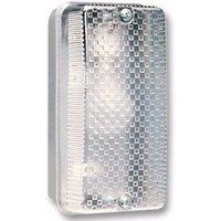 Eterna 100W IP65 BC B22d Aluminium Base Polycarbonate Diffuser Bulkhead