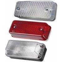 Greenbrook 100W IP65 BC B22d Aluminium Polycarbonate Bulkhead - Red Tint Cover