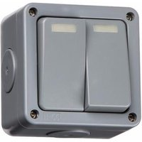 KnightsBridge 10A 2 Way IP66 Weatherproof Outdoor Switch - 2 Gang