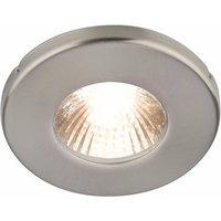 KnightsBridge 35 Watt Round Stainless Steel IP54 Bathroom Shower Downlight