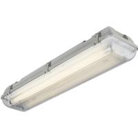 KnightsBridge Twin T8 36W IP65 240V Emergency Backup Non-Corrosive Lamp Fitting