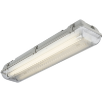 KnightsBridge Twin T8 70W IP65 240V Emergency Backup Non-Corrosive Lamp Fitting