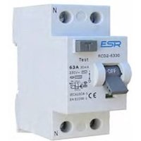 ESR RCCB RCD 2 Pole Domestic Consumer Unit Circuit Breaker - 25A 30mA