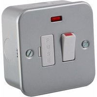KnightsBridge 13A Rated Switched Metal Clad Fused Connection Spur Unit with Neon