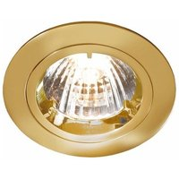 KnightsBridge MR16 Die-Cast 50mm 12V Low Voltage Fixed Downlight - Brass