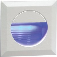 KnightsBridge IP54 Square LED Recessed Stair and Wall Guide Light - Blue