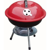 Zexum Mini Portable Barbecue With Enameled Red Finish