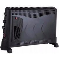 Kingavon Electric Convector Heater With Turbo Fan & 24h Timer- Black