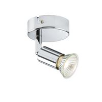 KnightsBridge Ceiling Light GU10 50 Watt Single Spotlight Ch