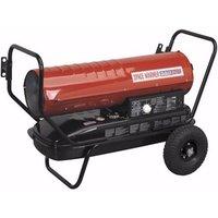 Sealey Portable Space Warmer Diesel Heater 100kBtu/hr with Wheels