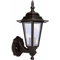 Eterna 60 Watt Lantern with 110º PIR - Black