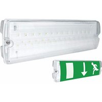 Eterna Emergency LED Bulkhead With Adhesive Exit Sign