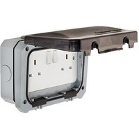 Greenbrook 13A Twin Outdoor IP66 Switched Socket