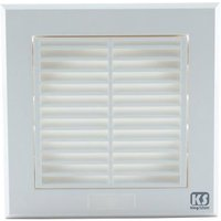 Greenbrook 4 Inch 100mm Fixed Grill Vent - White