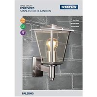 Status Palero Four Sided Plastic Lantern - Silver