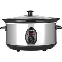 'Status 3.5 Litre Oval Slow Cooker - Silver