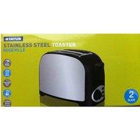 'Status Roseville 750w 2 Slice Stainless Steel Toaster