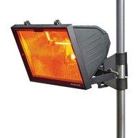 KnightsBridge 1300W Outdoor Infrared Heaters - Black