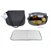 First Steps Baby Changing Travel Bag with Change Mats- Black