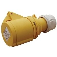 ESR 16A 2P+E 3 Pin Yellow Female Industrial Coupler IP44- Fast Fit
