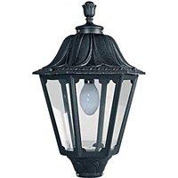 Fumagalli NOEMI E27 Hexagonal Lantern Head Black Traditional Garden Light