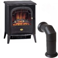 Dimplex Club 2kW Optiflame Electric Stove with Stove Pipe Bundle