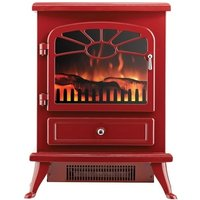 Focal Point ES2000 Electric Stove with Log Flame Effect - Burgundy