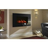 Focal Point Charmouth Glass Effect Electric Fire - Black