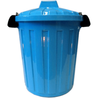 Zexum 25L Bin with Clip on Lid - Light Blue