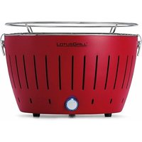 LotusGrill Standard Charcoal Barbecue With Fan Grill (2019 Model) - Blazing Red