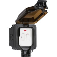 KnightsBridge IP66 13A Switched Fused Spur with Neon