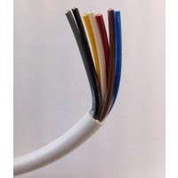 Zexum 0.75mm 7 Core White Cable Flexible 3187Y - 25 Meter