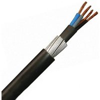 Zexum 4mm 4 Core 42A Brown Black Grey Blue 6944X Steel Wire Armoured SWA Outdoor Mains Power Cable - 5 Meter
