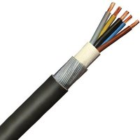Zexum 1.5mm 5 Core 23A Brown Black Grey Blue Green Yellow 6945X Steel Wire Armoured SWA Outdoor Mains Power Cable - 100 Meter