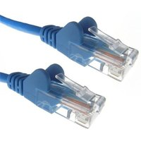 Zexum Blue RJ45 Cat6 High Quality 24AWG Stranded Snagless UTP Ethernet Network LAN Patch Cable - 1 Meter
