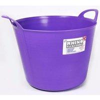 Rhino 40 Litre Heavy Duty Flexi Flexible Garden Container Storage Bucket Tub - Purple
