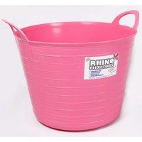 Rhino 40 Litre Heavy Duty Flexi Flexible Garden Container Storage Bucket Tub - Pink