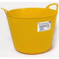 Rhino 40 Litre Heavy Duty Flexi Flexible Garden Container Storage Bucket Tub - Yellow