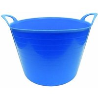 Rhino 40 Litre Heavy Duty Flexi Flexible Garden Container Storage Bucket Tub - Blue